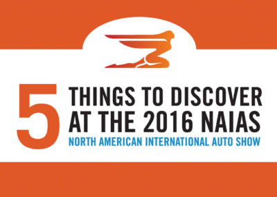North American International Auto Show Infographic
